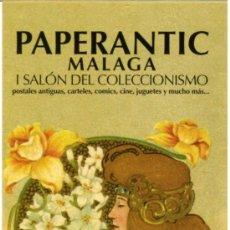Coleccionismo Marcapáginas: MARCAPÁGINAS – PAPERANTIC MALAGA 2007. Lote 170028012
