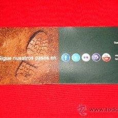 Coleccionismo Marcapáginas: SIGUE NUESTROS PASOS, FUNDACIÓN TENERIFE RURAL.. Lote 216829022