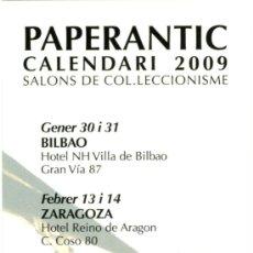 Coleccionismo Marcapáginas: MARCAPÁGINAS – PAPERANTIC CALENDARIO 2009 - CATALAN. Lote 94996816
