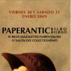 Coleccionismo Marcapáginas: MARCAPÁGINAS – PAPERANTIC BILBAO 2009 . Lote 95772064
