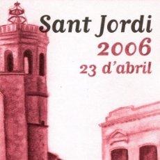 Coleccionismo Marcapáginas: MARCAPÁGINAS AJUNTAMENT DE SABADELL – SANT JORDI 2006 . Lote 144045181