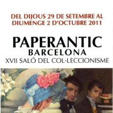 Coleccionismo Marcapáginas: MARCAPÁGINAS – PAPERANTIC BARCELONA SEPTIEMBRE 2011 - CATALÁN. Lote 221619176