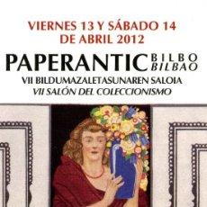 Coleccionismo Marcapáginas: MARCAPÁGINAS – PAPERANTIC BILBAO 2012. Lote 72332843