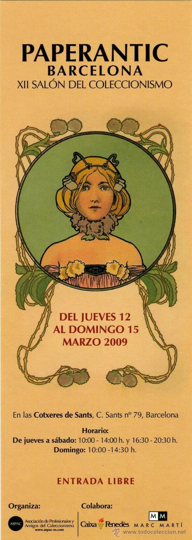 MARCAPÁGINAS – PAPERANTIC BARCELONA MARZO 2009 - CASTELLANO (Coleccionismo - Marcapáginas)