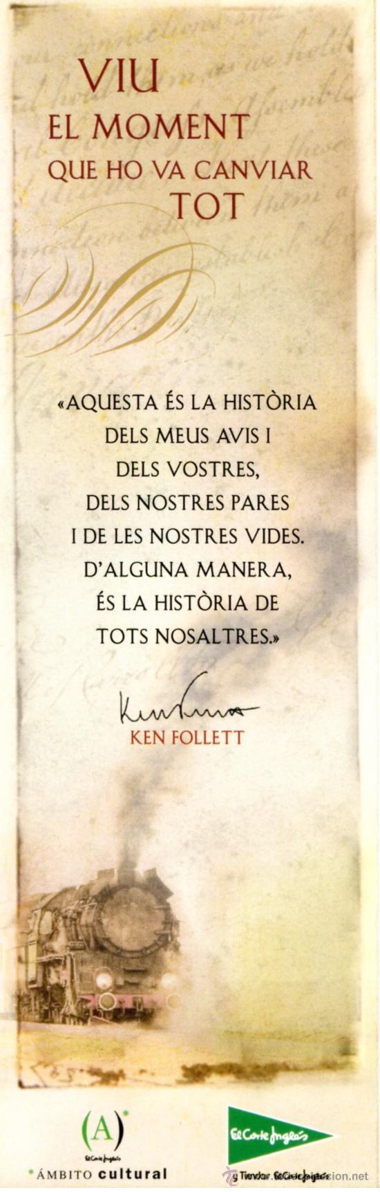 Coleccionismo Marcapáginas: Marcapáginas ROSA DELS VENTS – KEN FOLLETT (Catalan) - Foto 2 - 105305920