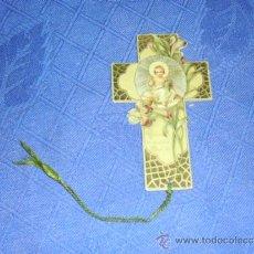 Coleccionismo Marcapáginas: ANTIGUO PUNTO DE LECTURA MARCACAPAGINAS, NIÑO JESUS, HACIA 1900. MED. SIN CORDON 5,5X9,5 CM.. Lote 31553570