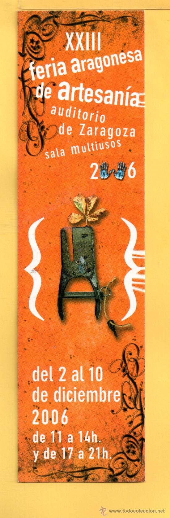 MARCAPÁGINAS DE FERIA ARAGONESA XXIII AÑO 2006 (Coleccionismo - Marcapáginas)