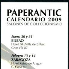 Coleccionismo Marcapáginas: MARCAPÁGINAS – PAPERANTIC CALENDARIO 2009 - CASTELLANO. Lote 95771924