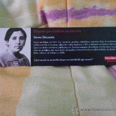 Coleccionismo Marcapáginas: SORNE UNZUETA. Lote 38128529
