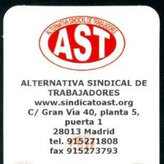 Coleccionismo Marcapáginas: MARCAPÁGINAS SINDICATO – AST 2011. Lote 33112896