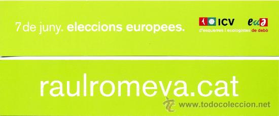 MARCAPÁGINAS POLITICO ICV (Coleccionismo - Marcapáginas)