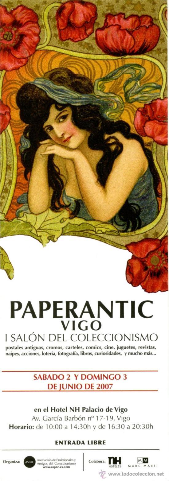 MARCAPÁGINAS – PAPERANTIC VIGO 2007 (Coleccionismo - Marcapáginas)