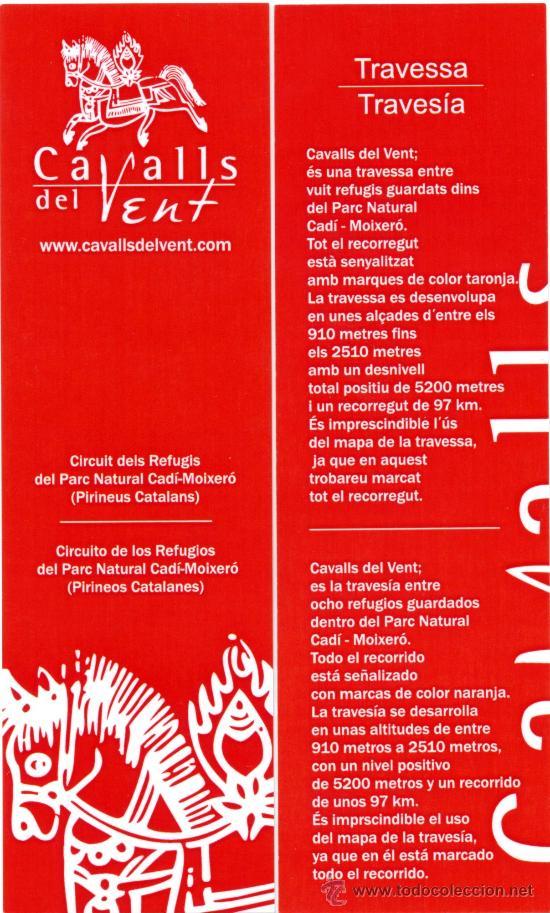 MARCAPÁGINAS - CADI MOIXERO (Coleccionismo - Marcapáginas)