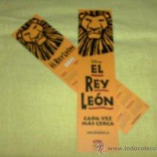 Coleccionismo Marcapáginas: EL REY LEÓN, MUSICAL.. Lote 81851895