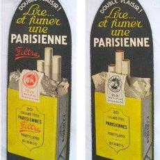 Coleccionismo Marcapáginas: MARCAPÁGINAS : CIGARETTES PARISIENNES. MARYLAND. F.J.BURRUS. Lote 34968443