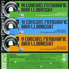 Coleccionismo Marcapáginas: 3 MARCAPÁGINAS BAIX LLOBREGAT - V CONCURS FOTOGRÀFIC. Lote 34941051