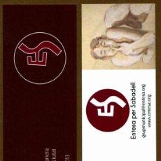 Coleccionismo Marcapáginas: MARCAPÁGINAS ENTESA SABADELL – SANT JORDI 2013. Lote 44807814