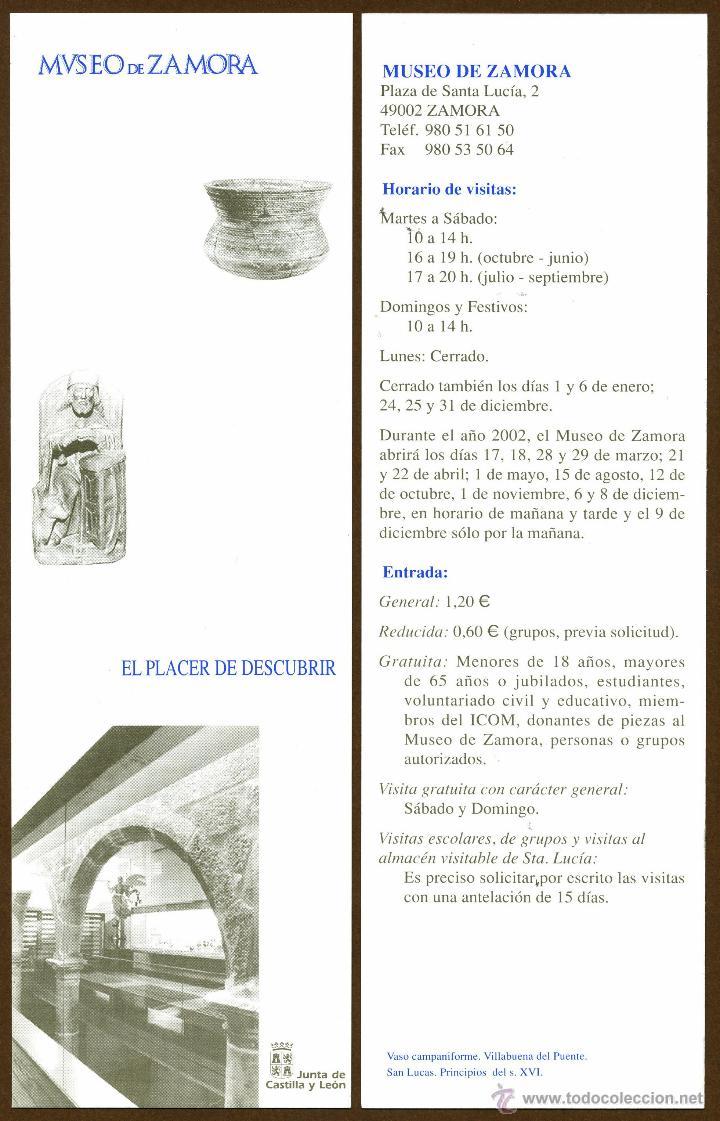 MARCAPÁGINAS - MUSEO DE ZAMORA (Coleccionismo - Marcapáginas)