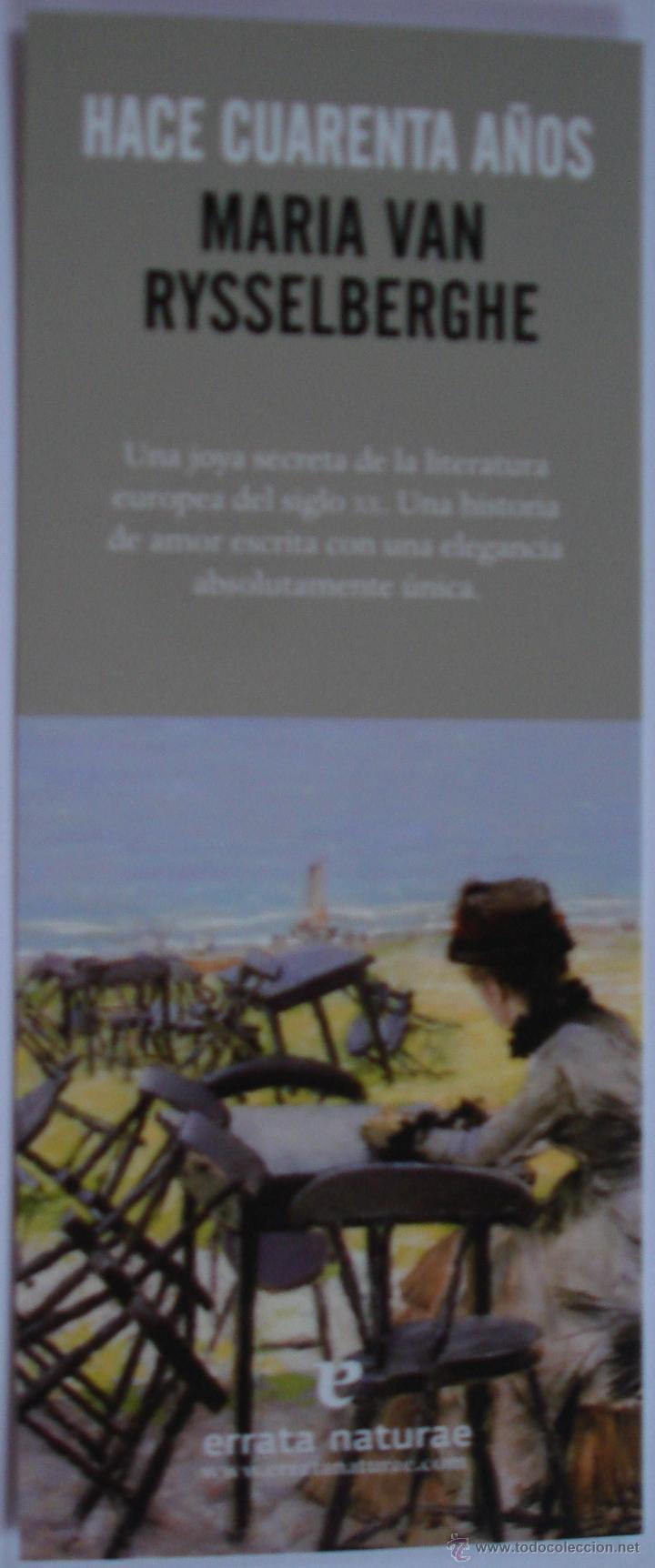 MARCAPÁGINAS EDITORIAL ERRATA NATURAE.HACE CUARENTA AÑOS. (Coleccionismo - Marcapáginas)
