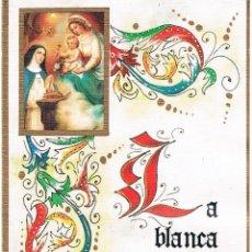 Coleccionismo Marcapáginas: RARO MARCAPÁGINAS CELEBRACIÓN 50 AÑOS DE PROFESIÓN MONJA DE CLAUSURA ÉCIJA 2001.. Lote 39989495