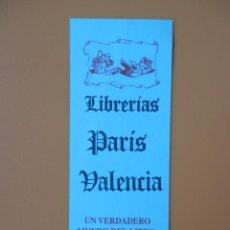 Collezionismo Segnalibri: MARCAPÁGINAS LIBRERÍAS PARÍS VALENCIA (AZUL) - DIVERSOS AUTORES. Lote 36922451