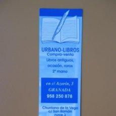 Collezionismo Segnalibri: MARCAPÁGINAS URBANO-LIBROS - DIVERSOS AUTORES. Lote 36922885