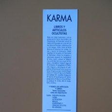 Collezionismo Segnalibri: MARCAPÁGINAS LIBRERÍA KARMA. LIBROS Y ARTÍCULOS OCULTISTAS - DIVERSOS AUTORES. Lote 36923282
