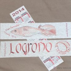 Coleccionismo Marcapáginas: SAN BERNABE, LOGROÑO, 2014. Lote 41595968