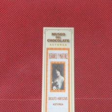 Coleccionismo Marcapáginas: ASTORGA, MUSEO DEL CHOCOLATE. Lote 41596379
