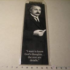 Coleccionismo Marcapáginas: MARCAPAGINAS: ALBERT EINSTEIN.- POMEGRANATE BOOKMARKS. Lote 152533808