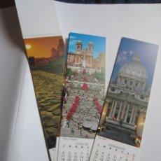 Coleccionismo Marcapáginas: MARCAPAGINAS EN CALENDARIO (12 MESES) BOOKMARK- ROMA 2011. Lote 42536759