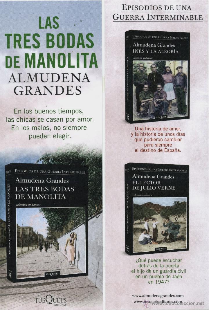 MARCAPÁGINAS - EDITORES TUSQUETS (Coleccionismo - Marcapáginas)