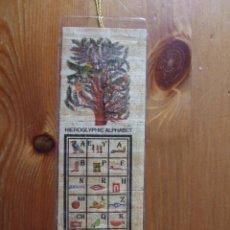 Coleccionismo Marcapáginas: ALFABETO JEROGLIFICO - SOUVENIR DE EGIPTO - PAPIRO IMPRESO - CIRCA 2000 - NUEVO. Lote 49909666