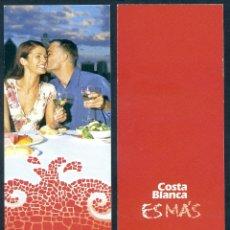 Coleccionismo Marcapáginas: MARCAPÁGINAS TURISMO - COSTA BLANCA. Lote 51397319