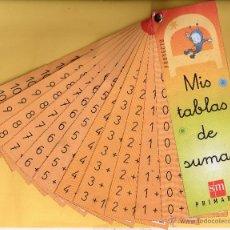 Coleccionismo Marcapáginas: BONITO MARCAPÁGINAS DE EDICION SM PRIMARIA MIS TABLAS DE SUMAR. Lote 51610470