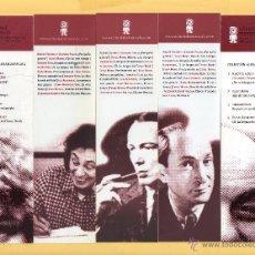 Coleccionismo Marcapáginas: CINCO BONITOS MARCAPÁGINAS DE EDICION MINÚSCULA ALEXANDERPLATZ. Lote 52155257