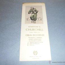 Coleccionismo Marcapáginas: ANTIGUO MARCAPAGINAS O PUNTO DE LIBRO WISTON S. CHURCHILL BIBLIOTECA PREMIOS NOBEL AGUILAR 19X8 CM . Lote 52528060