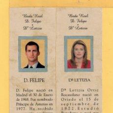 Coleccionismo Marcapáginas: CINCO BONITOS MARCAPAGINAS DE EDICIÓN DE LA BODA REAL DE D. FELIPE Y Dª LETICIA. Lote 53826700