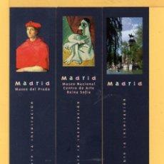 Coleccionismo Marcapáginas: DIEZ BONITOS MARCAPÁGINAS DE EDICIÓN OFICINAS TURISMO DE MADRID Y MUSEOS . Lote 54431284
