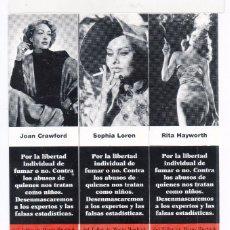 Coleccionismo Marcapáginas: TRENTA PUNTOS DE LIBROS EDITOR TITULO EN DEFENSA DEL TABACO SERIE COMPLETA. Lote 56042577