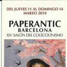 Coleccionismo Marcapáginas: MARCAPAGINAS PAPERANTIC BARCELONA MARZO 2.010 CASTELLANO. Lote 57660464