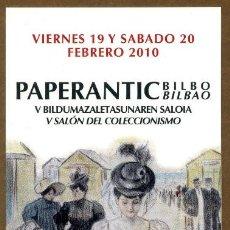 Coleccionismo Marcapáginas: MARCAPÁGINAS – PAPERANTIC BILBAO 2010. Lote 72332987