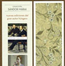 Coleccionismo Marcapáginas: MARCAPÁGINAS ED. SALAMANDRA COLECCIÓN SANDOR MARAI. Lote 105303440