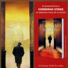 Coleccionismo Marcapáginas: MARCAPÁGINAS ED. SALAMANDRA EL GUSANO DE SEDA. Lote 105303292