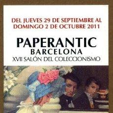 Coleccionismo Marcapáginas: MARCAPÁGINAS – PAPERANTIC BARCELONA 2011 - CASTELLANO. Lote 176190387