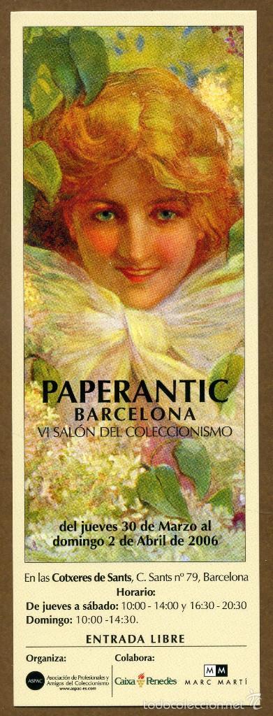 MARCAPÁGINAS – PAPERANTIC BARCELONA 2006 - CASTELLANO (Coleccionismo - Marcapáginas)