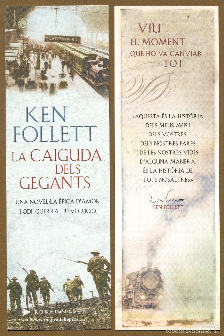 MARCAPÁGINAS ROSA DELS VENTS – KEN FOLLETT (CATALAN) (Coleccionismo - Marcapáginas)
