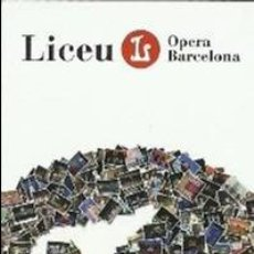 Coleccionismo Marcapáginas: MARCAPAGINAS DEL LICEO DE BARCELONA 14 - 15 AÑOS DEL NUEVO LICEO. Lote 294117578