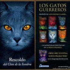 Coleccionismo Marcapáginas: MARCAPÁGINAS SALAMANDRA LOS GATOS GUERREROS - RESCOLDO. Lote 221612735