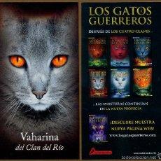 Coleccionismo Marcapáginas: MARCAPÁGINAS SALAMANDRA LOS GATOS GUERREROS - VAHARINA. Lote 221612708